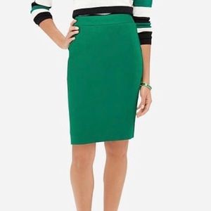 The Limited Kelly Green Pencil Skirt 14 TALL